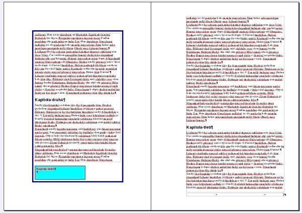 Styl stránky Levé a styl stránky Pravé může být úplně jiný