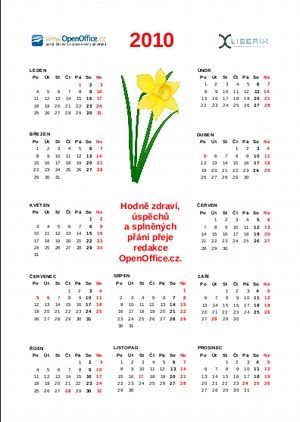 kalendar na rok 2010 OpenOffice.cz | Kalendář 2010 jako dárek pro čtenáře OpenOffice.org kalendar na rok 2010
