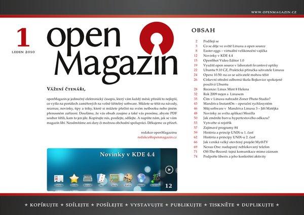 Klepnutím stáhnete OpenMagazin 01/2010 - PDF