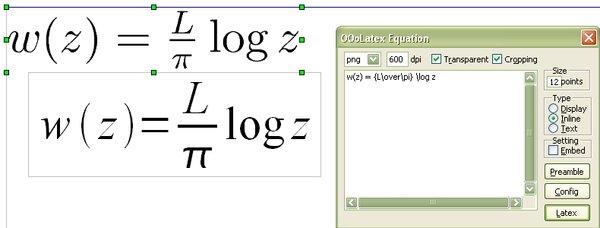 Editovanie vloženého vzorca ajeho porovnanie so vzorcom vloženým pomocou modulu Math