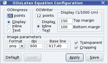 """Definícia parametrov vkladaného obrázku vo funkcii """"Equation"""""""