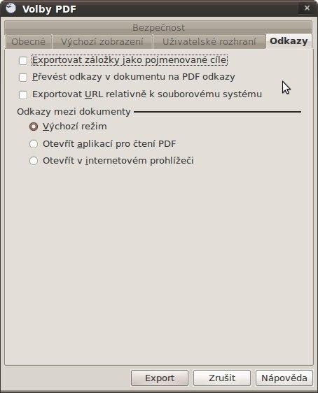 Volby PDF - Odkazy