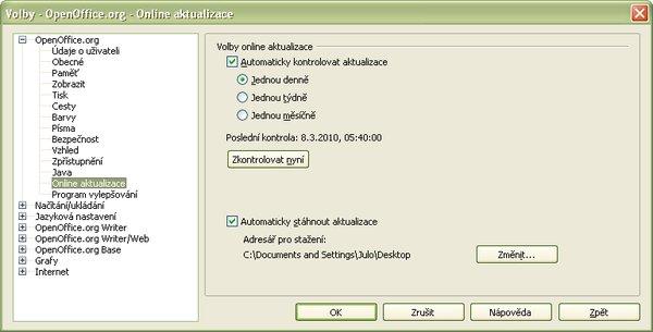 Nastavenie časového intervalu pravidelnej kontroly aktualizácií