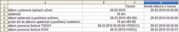Príklad so súčtom arozdielom dátumov