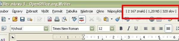 Jedna z možností on-line zobrazovania počtu znakov, normostrán a slov