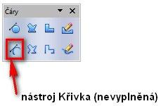 OpenOffice.org umožňuje vytvářet vektorové křivky jako profesionální grafické editory