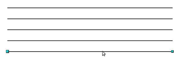 Linky nakreslené pomocí sítě, kopírování a opakované vkládání