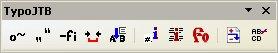 Správne zobrazený panel nástrojov TypoJTB