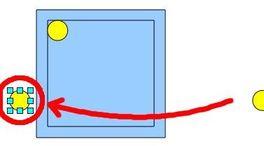 Obrázek 11: Příprava před zarovnáním druhého oka vpravo dolů