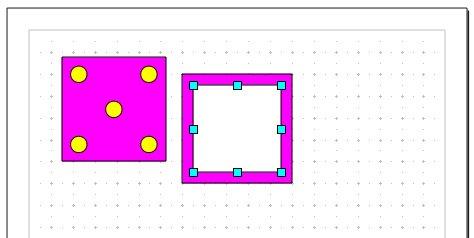 Obrázek 18: První stěna kostky s mřížkou
