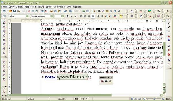 Text po vymazaní hypertextového odkazu
