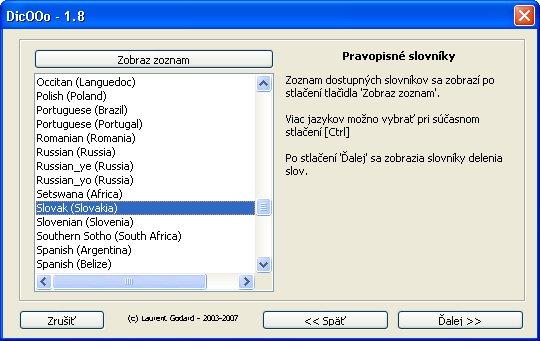 Výber pravopisných slovníkov