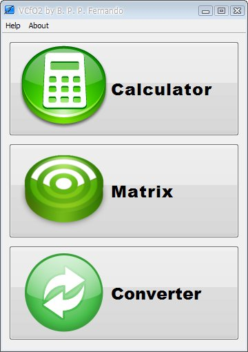 Uvítací nabídka pluginu Versatile Calculator