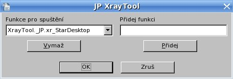 "Pracovné okno ""JP XrayTool"""
