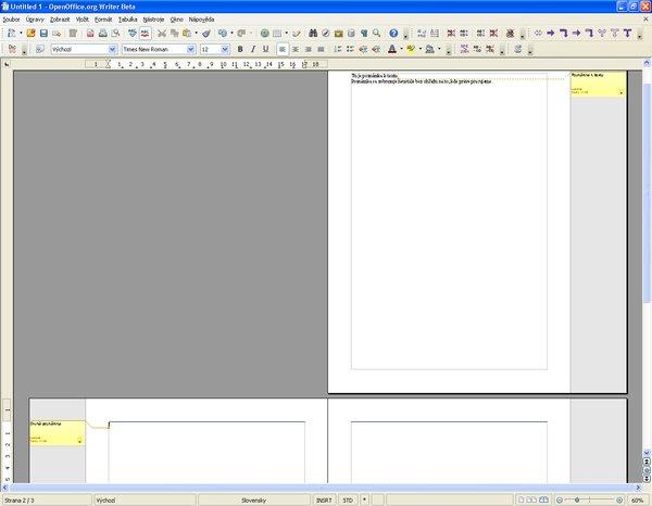 Poznámky v texte vo verzii OpenOffice.org 3