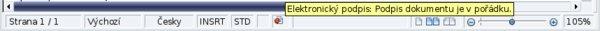 Ikona označující elektronické podepsání dokumentu