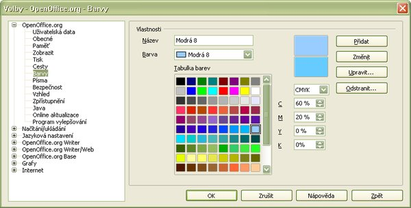Zmena definície farby v režime CMYK