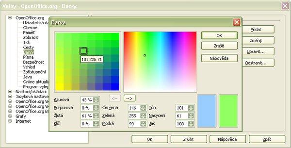 """Pracovné okno """"Farba"""""""