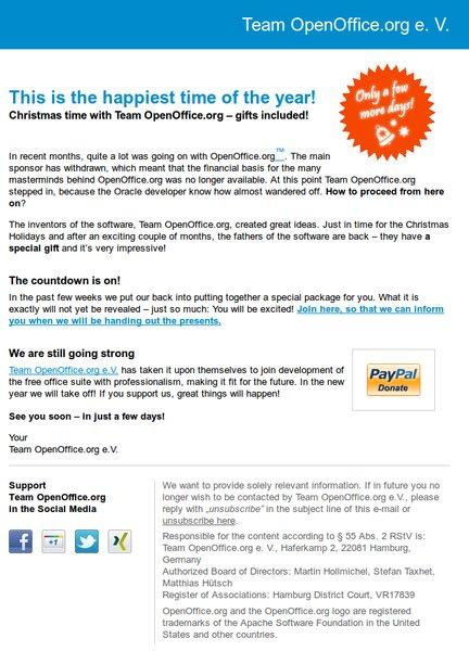 Výzva Team OpenOffice.org před Vánoci 2011
