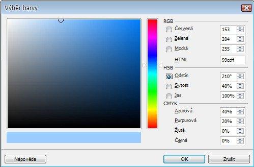 Velice užitečnou změnou je nový způsob míchání barev. Je daleko přívětivější než dosavadní. Míchání na základě odstínu barvy…