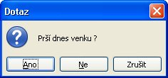 Dialog MSGBOX s třemi tlačítky a otazníkem
