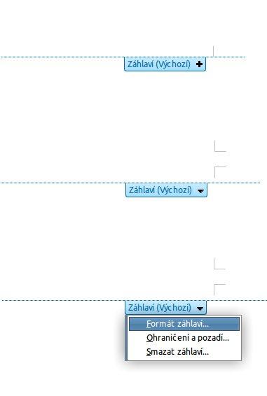 Nové záhlaví LibreOffice Writer