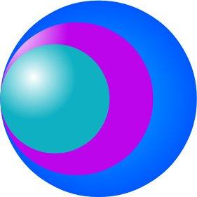 Po převodu diagramu na křivky lze členy diagramu vybarvovat jako jakékoliv jiné křivky