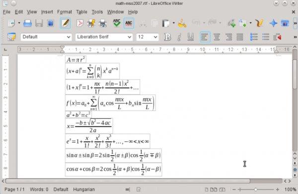 V této verzi LibreOffice byla vylepšena podpora pro formát .rtf, (převzato z webu TDF)