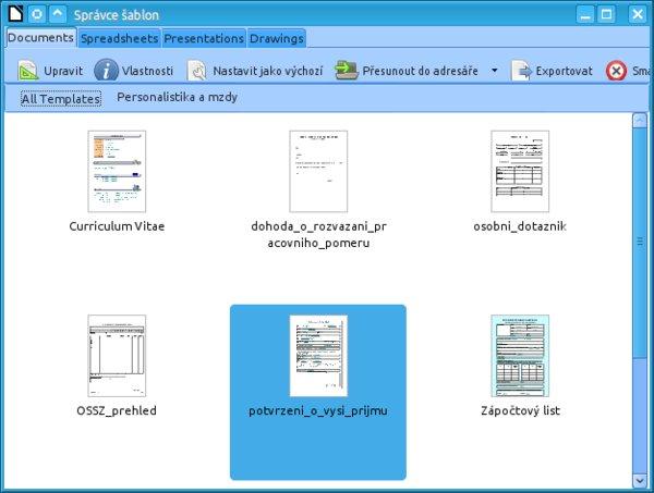 Nový správce šablon je zřejmě nejvýznamnější změnou pro řadové uživatele LibreOffice