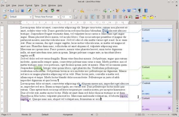 Poznámky lze přidávat i k vybraným částem textu (převzato z webu TDF)