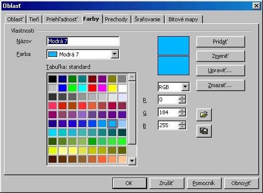 Úprava farebnej škály