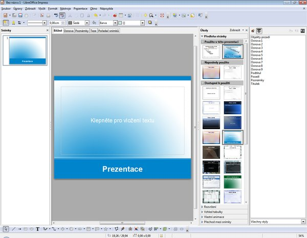 LibreOffice 3.4 (program Impress)