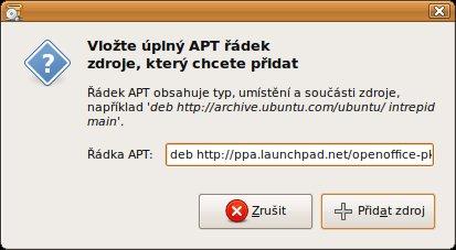 Adresa zdroje softwaru zadána