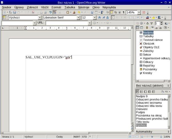 GTK vzhled Writeru