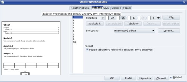 Vložený začiatok hypertextového odkazu