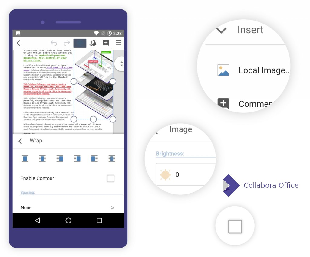 Ukázka Collabora Office for Android – modul Writer