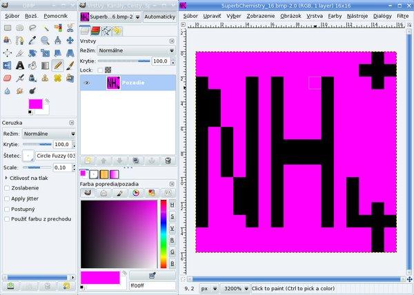 Vytvorenie ikony pre panel nástrojov