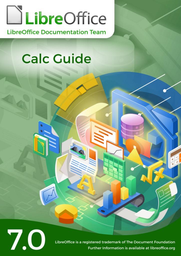 Obálka příručky LibreOffice Calc 7.0