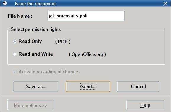 Rychlé odeslání mailem ve formátu PDF