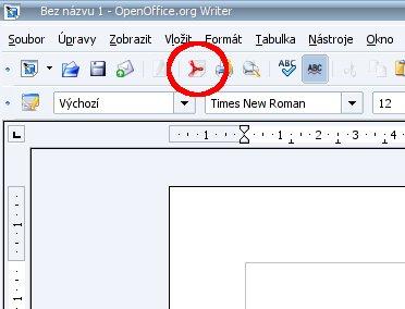 Ikona pro přímý export do PDF