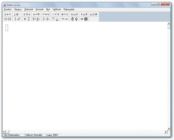 Editor rovnic