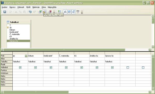 Prepnutie do režimu priameho zadania SQL príkazu