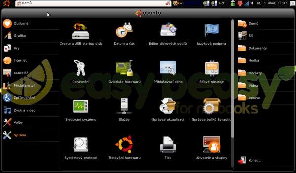 Easy Peasy je varianta Ubuntu pro netbooky Asus Eee PC