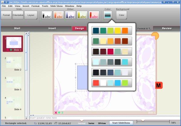 Návrhy nového prostředí - práce s barvami