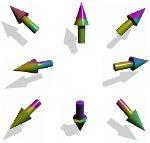 Krásné barevné šipky