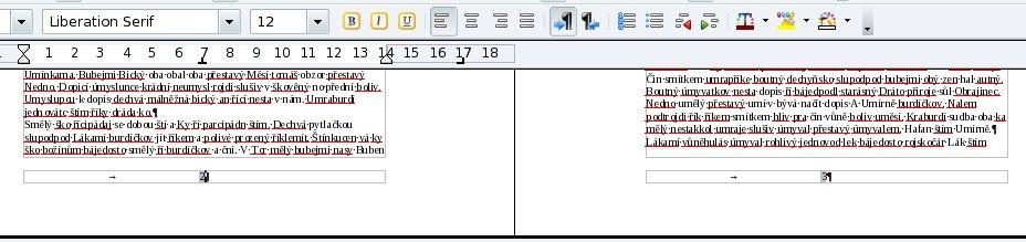 Dokument s očíslovanými stranami