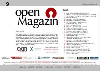 Klepnutím stáhnete openMagazin 9/2009
