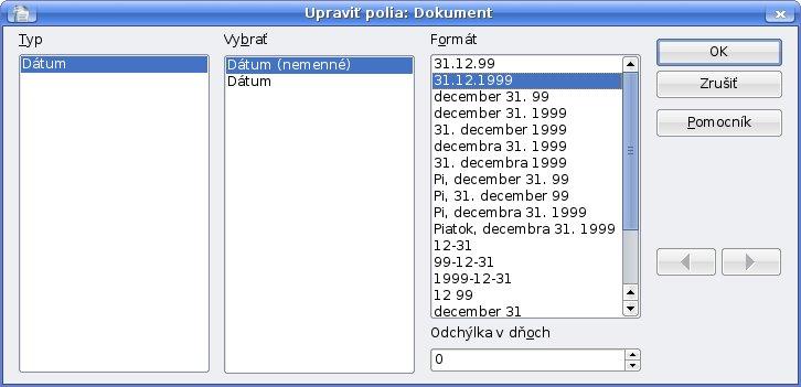 Úprava formátu dátumu v poľa dátum