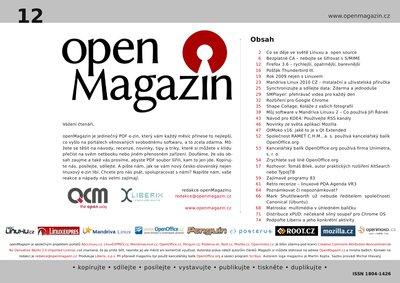 Klepnutím stáhnete OpenMagazin 12/2009
