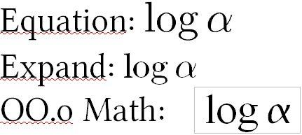 Ukážka rovnakých vzorcov vložených tromi rôznymi spôsobmi